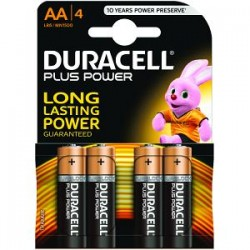 Piles Duracell Plus Power AA pack de 4