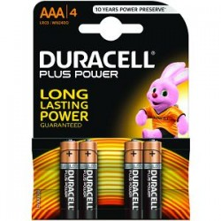 Piles Duracell Plus Power AAA pack de 4