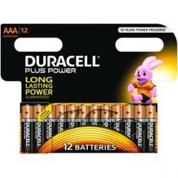 Piles Duracell Plus Power AAA pack de 12