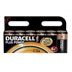 Piles Duracell Plus Power C pack de 6