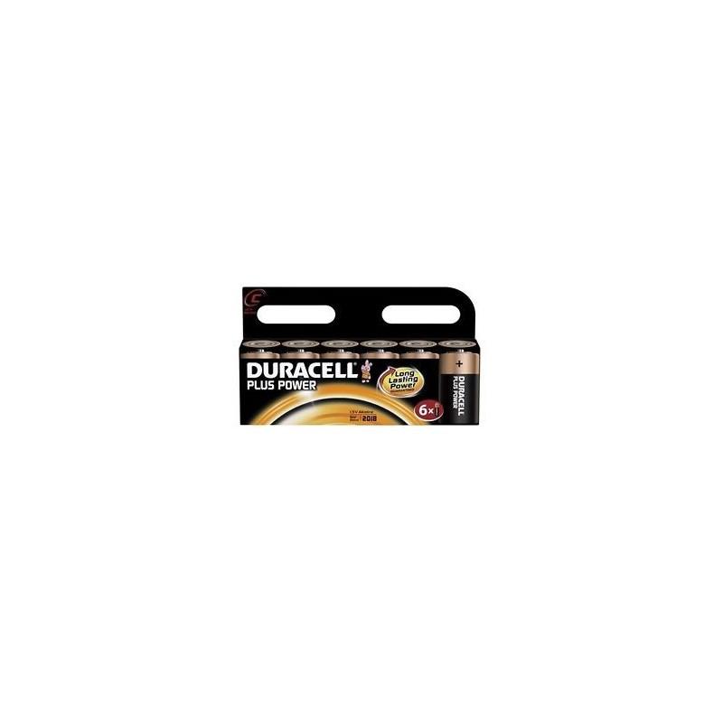 Piles Duracell Plus Power C MN1400B6