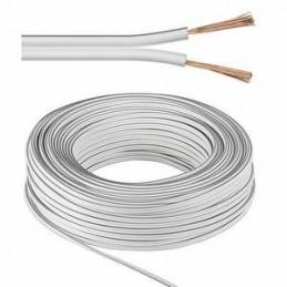 Cable 2x0,50 mm² blanc/noir au mètre