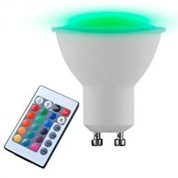 Ampoule LED GU10 RGB + 3000K 4W eglo 10686
