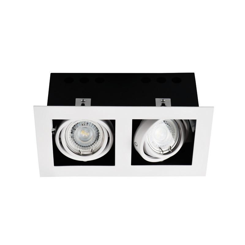 Spot orientable MERIL Double GU10 blanc dlp-250-W 26481