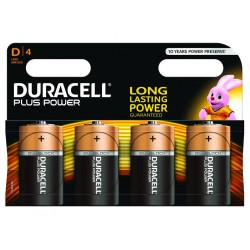 Piles Duracell Plus Power D pack de 4