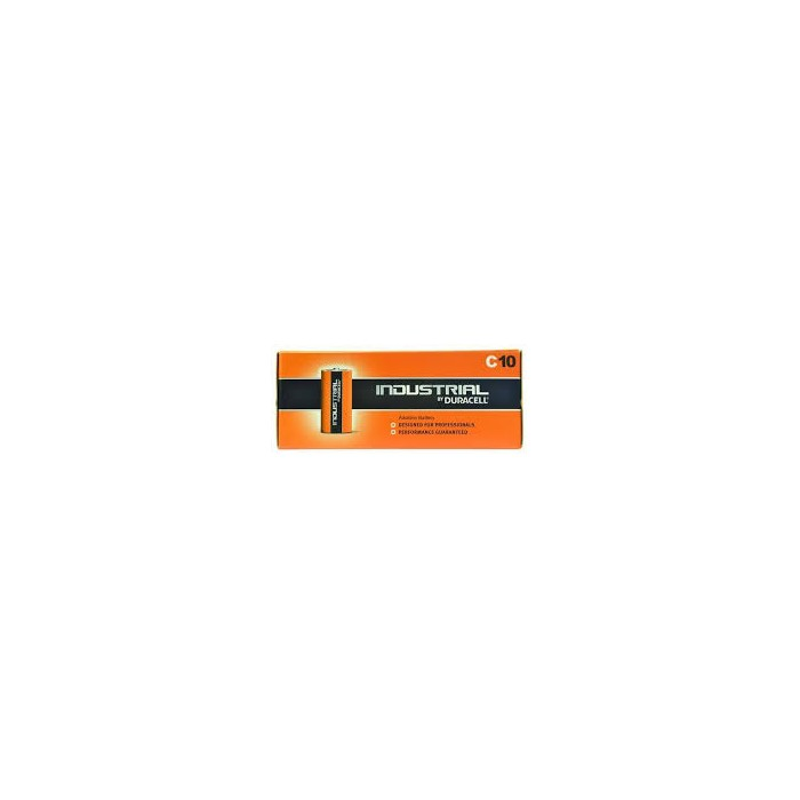 Piles Duracell Industrial C pack de 10 ID1400B10