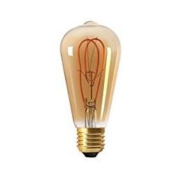 Ampoule wireled ambrée E27 5W incurvée