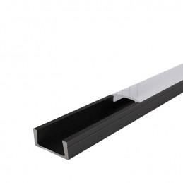 Profilé Aluminium LEON 2M Noir
