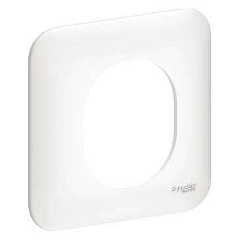 Plaque 1 poste OVALIS blanc S260702
