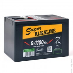 Batterie alcaline 6AS3/150M 9V 150Ah