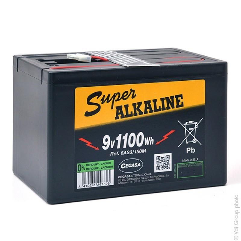 Batterie alcaline 6AS3/150M 9V 150Ah