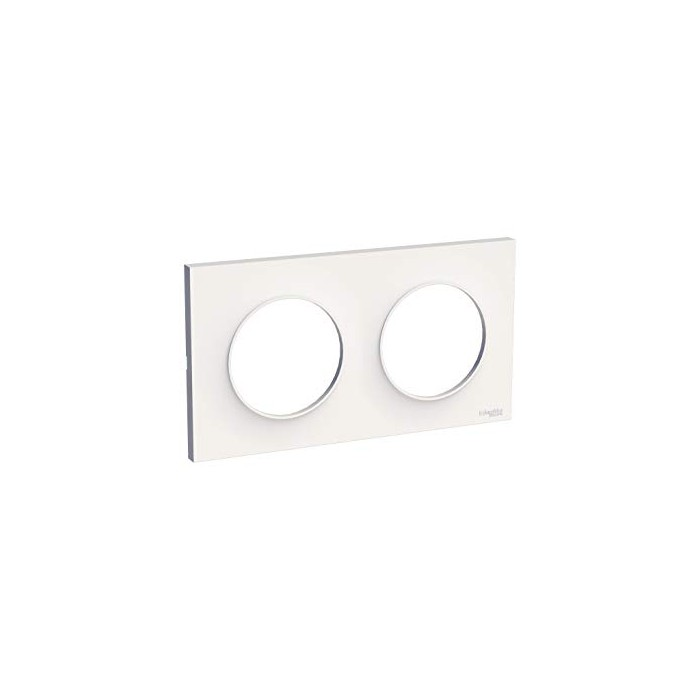 Plaque de finition double s520704 ODACE Styl Blanc