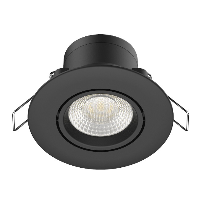 Spot LED IXOLED 5W orientable Dimmable 495Lm IP65 Noir BBC