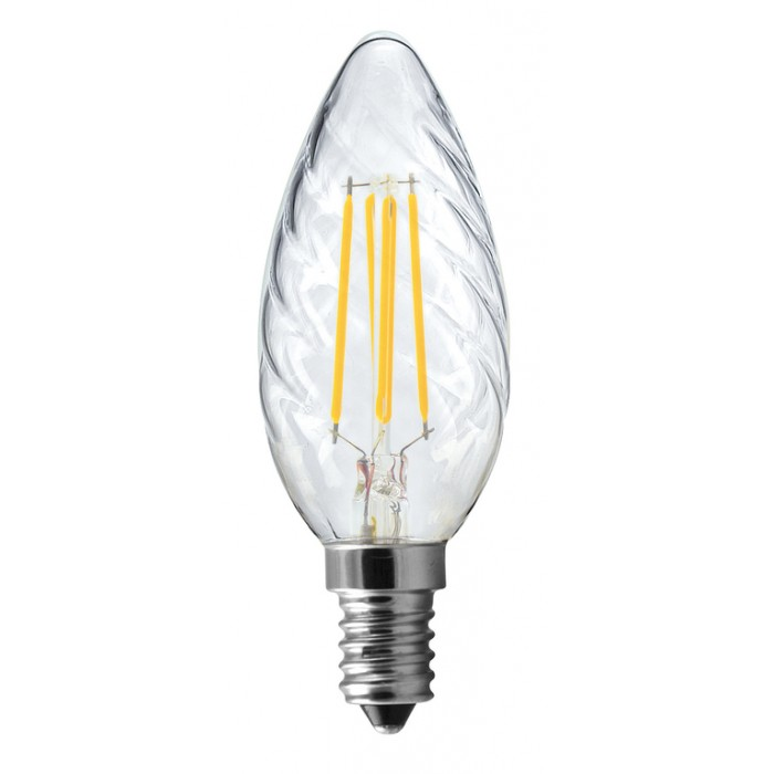 Lampe Flamme torsadée Wireled E14 5W