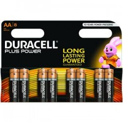 Piles Duracell Plus Power AA pack de 8