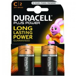 Piles Duracell Plus Power C pack de 2