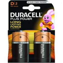 Piles Duracell Plus Power D pack de 2