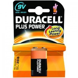 Pile 9V LR61 Duracell Plus Power