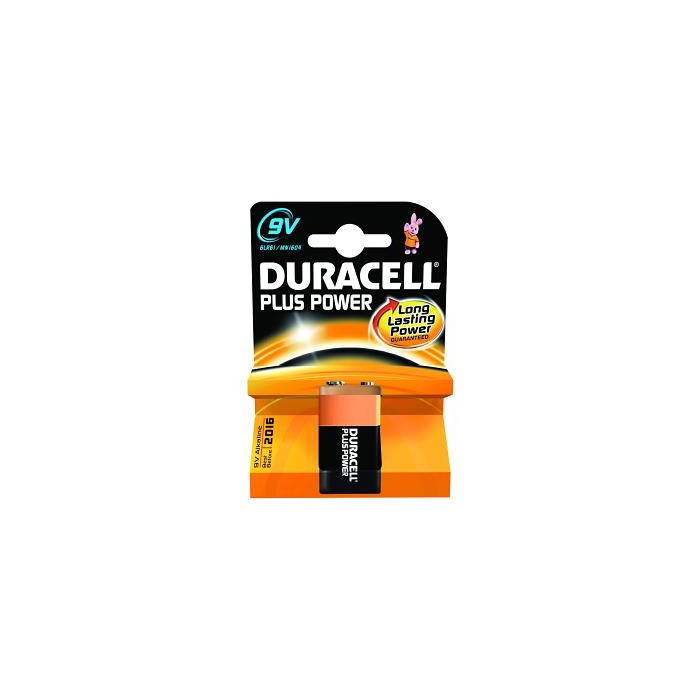 Pile 9V Duracell Plus Power MN1604B1