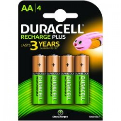 Piles AA rechargeables Duracell 1300 mAh