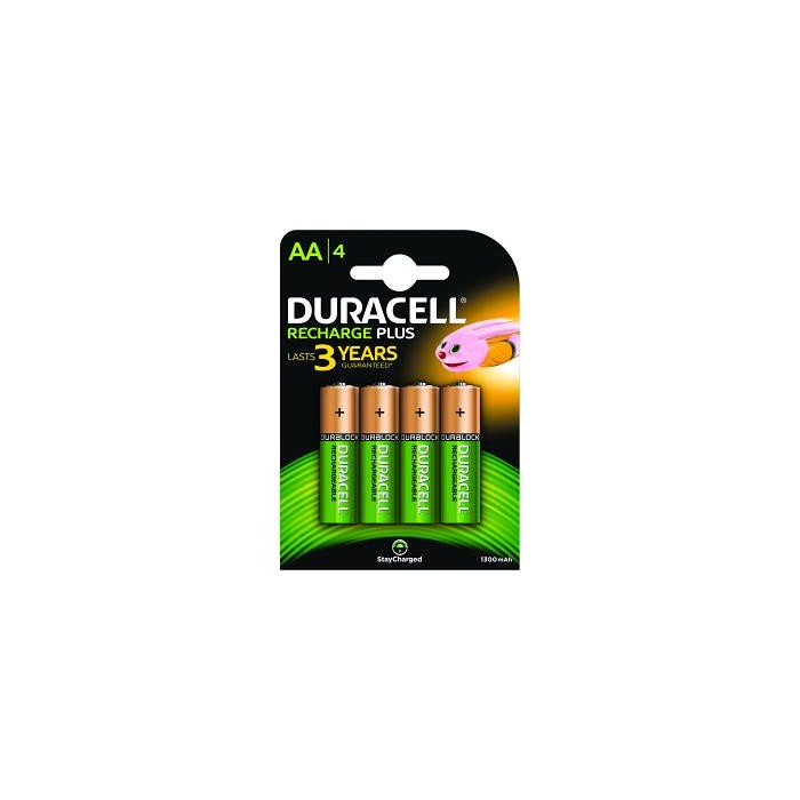 Piles AA rechargeables Duracell pack de 4 HR6-B