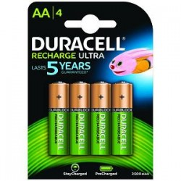 Piles AA pré-chargées Duracell 2400 mAh