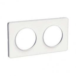 Plaque de finition Double ODACE Touch Blanc